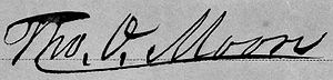 Thomas Overton Moore - Image: Signature of Governor Thomas Overton Moore