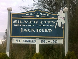 Silver City, Mississippi - Image: Silver City Jack Reed Sign