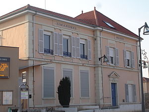 Simandres - The town hall in Simandres