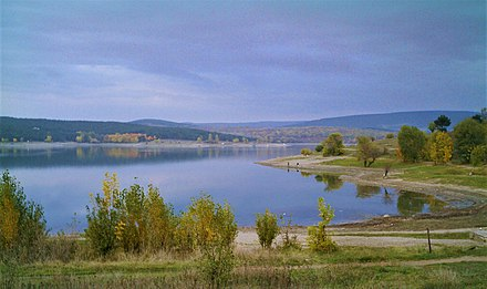 The Simferopol Reservoir provides clean drinking water to the city. Simferopol Reservoir.jpg