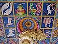 Singapore Tempel Sri Srinvasa Perumal Innen Decke 6.jpg