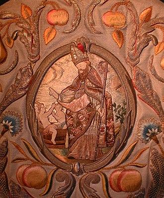 Sint-Niklaas - Saint-Nicholas, 17th century embroidery restaured by Henri Van Severen