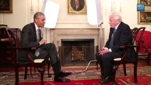 Файл:Sir David Attenborough & President Obama.webm