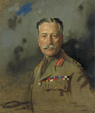 Montreuil, Pas-de-Calais - Portrait of Haig at General Headquarters, France, by Sir William Orpen, May 1917