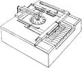 Skrifmaskin, Sholes-Glidden-Soulé-skrifmaskin, Nordisk familjebok.png
