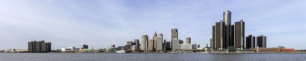 Skyline of Detroit, Michigan from S 2014-12-07