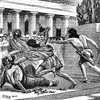 Hipparchus (son of Peisistratos) - The slaughter of Hipparchus.