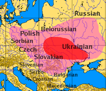 Map of Slavic language origins