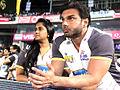 Sohail Khan watching CCL2, India 2011.jpg