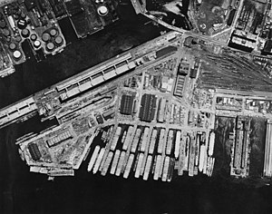 Boston Navy Yard - The South Boston Naval Annex, circa 1958