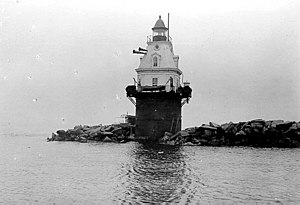 Southwest Ledge Light - Historic Photo