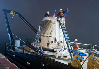 SpaceX CRS-1 - The SpX-1 capsule seen back at port on 30 October 2012