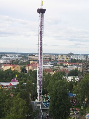 Space Shot (ride) - Raketti (formerly known as Space Shot) in Linnanmäki amusement park in Finland.
