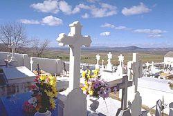 Квіти залишені на могилах померлих