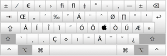 Alt key - Image: Special Characters Mac Alt Key Shift
