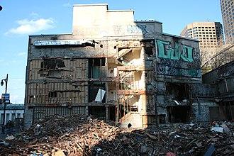 Spectrum (Montreal) - Facade of venue during demolition (c.2008)
