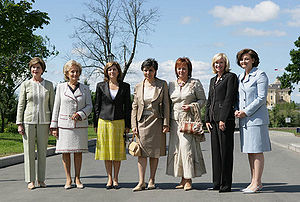 Laureen Harper - Harper (second from right) at 2006 G8 Summit