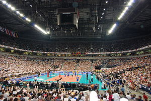 2009 FIVB Volleyball World League -  Serbia - Brazil FIVB World League 2009 final in Belgrade Arena, 22,680 spectators