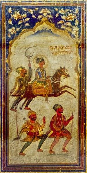 Guru Har Krishan - A fresco of Guru Har Krishan ca. 1745