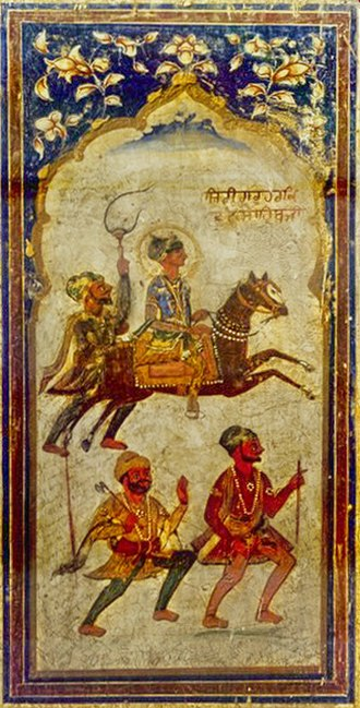 Guru Har Krishan - A fresco of Guru Har Krishan, ca. 1745