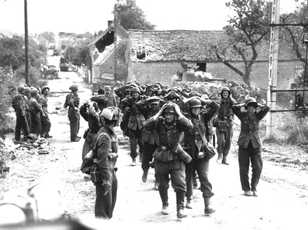 German forces surrender in Saint-Lambert-sur-Dive, 21 August 1944 St.-Lambert-surrender.3.jpg