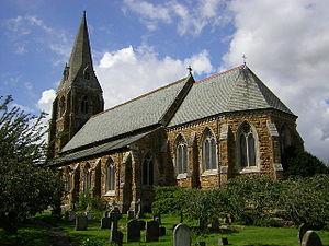 Binbrook - Image: St.Mary and St.Gabriel's church, Binbrook, Lincs. geograph.org.uk 43715