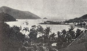 Swedish colony of Saint Barthélemy - Photo about 1865