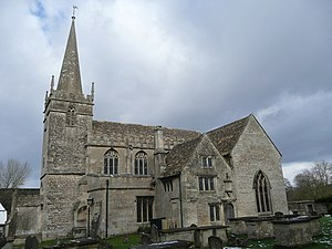 St Cyriac's Church, Lacock - St Cyriac's church, viewed from the south-west, 2009