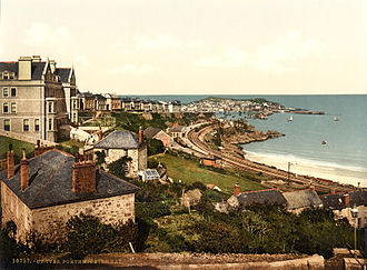 St Ives, Cornwall - Photochrom of St Ives, 1895