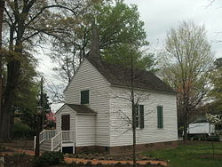 St. Marks Chapel, Mordecai Historic Park - full view.JPG