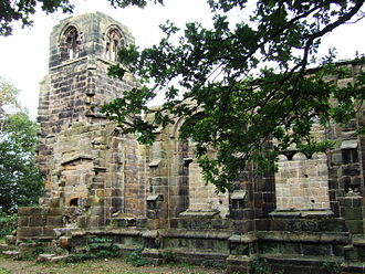 Lydiate - The ruins of St Catherine's Chapel, built c.1500 and believed abandoned around fifty years later.