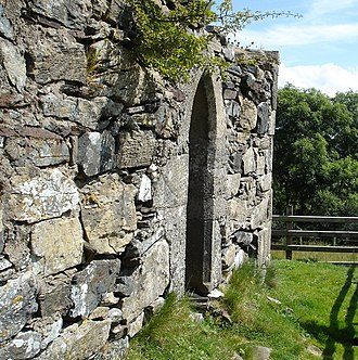 Columba - The remains of St. Columba's Church, Gartan, County Donegal.