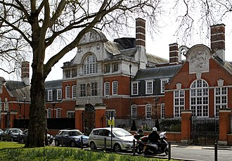 Brook Green - Main building of St Paul's Girl School in Brook Green