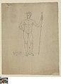 Staande naakte man met een speer, 1775 - 1830, Groeningemuseum, 0043300000.jpg