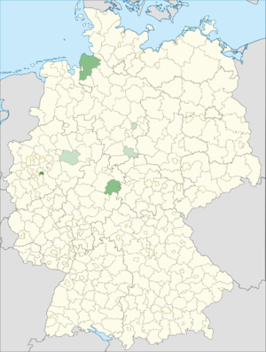 Spanish immigration to Germany - Distribution of Spanish citizens in Germany (2014)