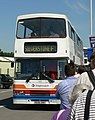 Stagecoach bus R696 DNH Silverstone shuttle July 2005.jpg