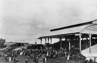 Eagle Farm Racecourse - Grandstand at Eagle Farm Racecourse c. 1914