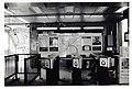 Station head house, interior, turnstiles and announcement board, Savin Hill MBTA station (25138290869).jpg