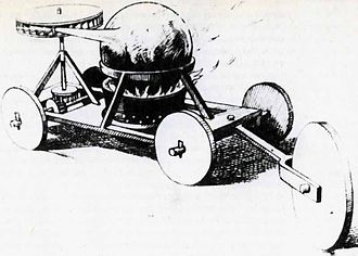 Ferdinand Verbiest - The steam 'car' designed by Verbiest in 1672 – from an 18th-century print
