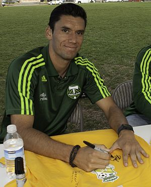 Steve Purdy - Purdy signing a shirt at a Portland Timbers event in 2012