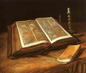 Still life with Bible, by Vincent Van Gogh