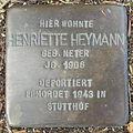 Stolperstein Bad Bentheim Dorfstraße 21 Henriette Heymann.JPG