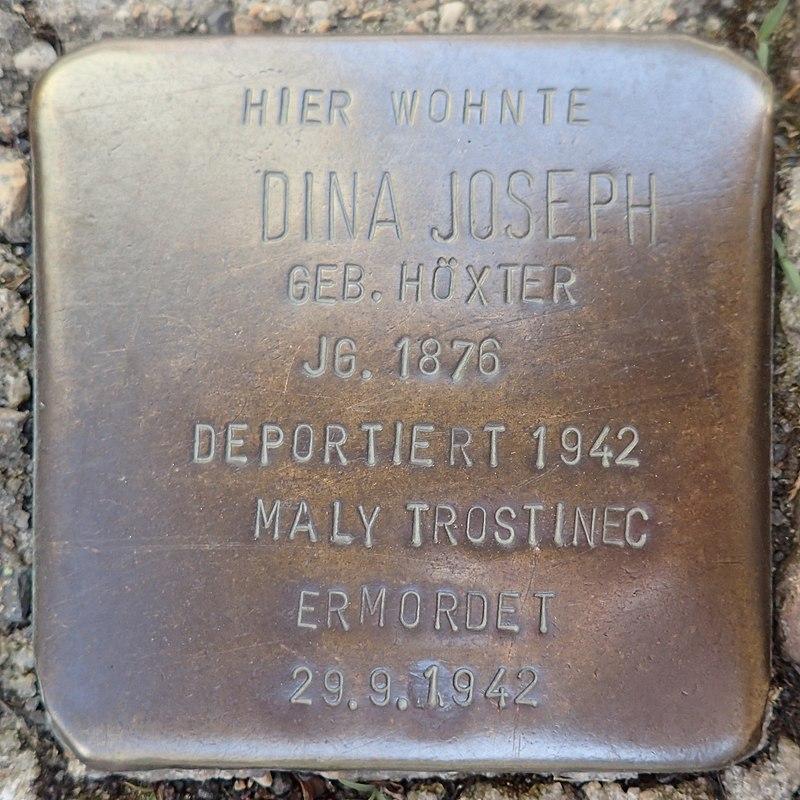 Stolperstein für Dina Joseph geb. Höxter