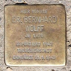 Photo of Bernhard Wolff brass plaque