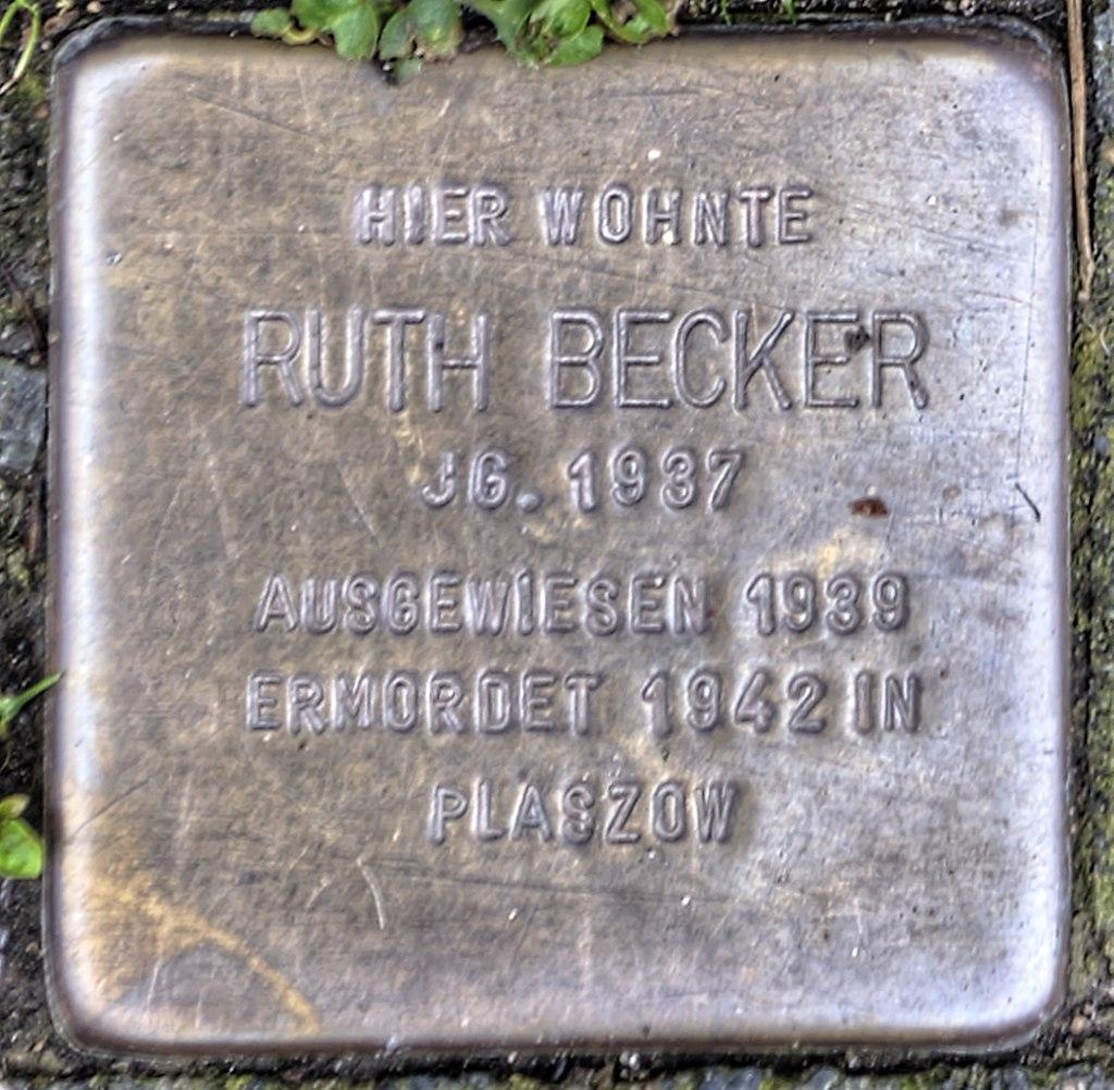 Stolperstein Remscheid Brüderstraße 3 Ruth Becker.jpg