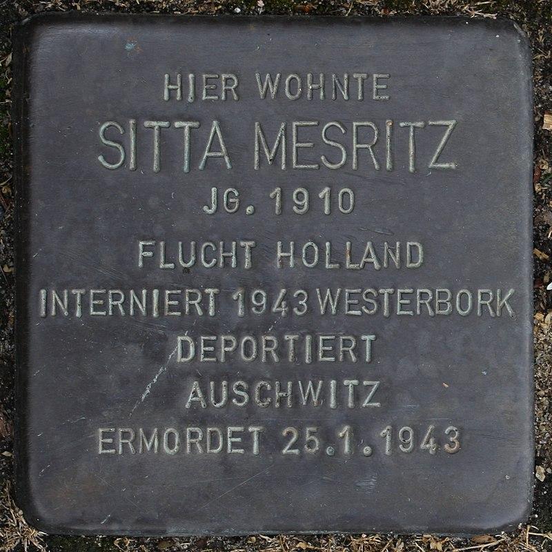Stolperstein Wendeburg Am Betonwerk 2 Sitta Mesritz.jpg