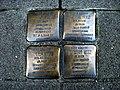 Stolpersteins Alfred Herz, Lucie Herz, Ella Herz, Ingeborg Herz Friedrich-Breuer-Straße 25 Bonn.JPG