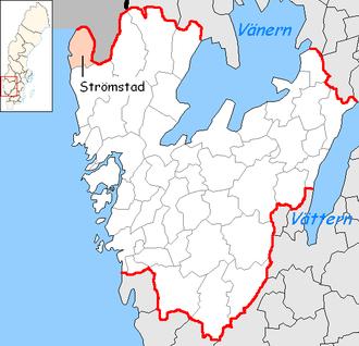 Strömstad Municipality - Image: Strömstad Municipality in Västra Götaland County