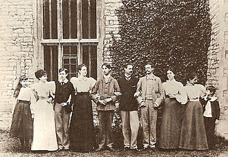 Dorothy Bussy - The sons and daughters of Sir Richard Strachey and Lady Macdonald. Dorothea is the second from the left.