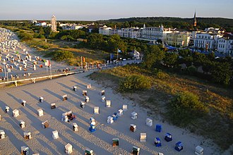 Tourism in Germany - Mecklenburg-Vorpommern with its beaches at the Baltic Sea has the highest density of tourists. It is favourably located between Germany's major cities Berlin and Hamburg.